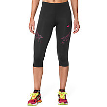 Buy Asics Tiger Stripe Cropped Running Tights, Black Online at johnlewis.com