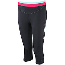 Buy Ronhill Aspiration Contour Capri Pants, Black/Pink Online at johnlewis.com