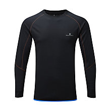Buy Ronhill Advance Long Sleeve Crew Neck Running Top, Black Online at johnlewis.com