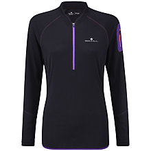 Buy Ronhill Trail Half Zip T-Shirt, Black/Purple Online at johnlewis.com