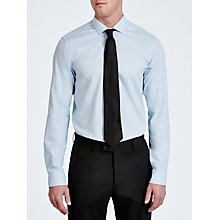 Buy Kin by John Lewis Forst Marl Cutaway Collar Shirt, Sky Online at johnlewis.com