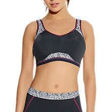 Buy Freya Sports Crop Top Bra, Zinc Print Online at johnlewis.com