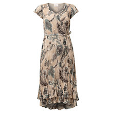 Buy East Antoinette Pleat Dress, Stone Online at johnlewis.com