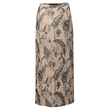 Buy East Antoinette Pleated Skirt, Stone Online at johnlewis.com