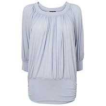 Buy Phase Eight Beatrice Blouson Top, Silver Online at johnlewis.com