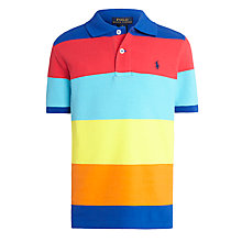 Buy Polo Ralph Lauren Boys' Bold Stripe Polo Shirt, Multi Online at johnlewis.com