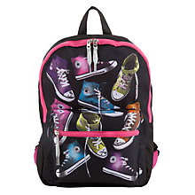 Buy Converse Children's Shoe Pattern Backpack, Black/Multi Online at johnlewis.com