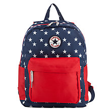 Buy Converse Children's Star Print Backpack, Navy/Red Online at johnlewis.com