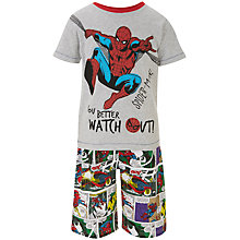 Buy Spider-Man Short Sleeve Pyjamas Set, Grey Online at johnlewis.com