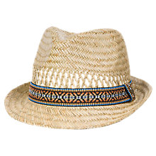 Buy Animal Children's Logan Straw Hat, Natural Online at johnlewis.com