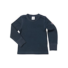 Buy Polarn O. Pyret Baby's Ribbed Classic Top, Blue Online at johnlewis.com