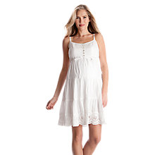 Buy Séraphine Elizabeth Cotton Maternity Dress, White Online at johnlewis.com