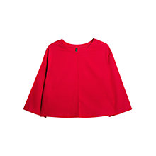 Buy Mango Seam Detail T-Shirt, Bright Red Online at johnlewis.com