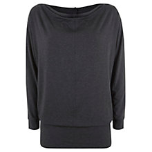 Buy Hygge by Mint Velvet Yoga Slouch Top, Charcoal Online at johnlewis.com