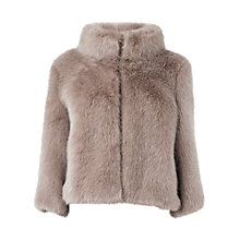 Buy Phase Eight Ophelia Faux Fur Jacket, Champagne Online at johnlewis.com