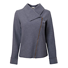 Buy East Boiled Wool Biker Jacket, Bluestone Online at johnlewis.com