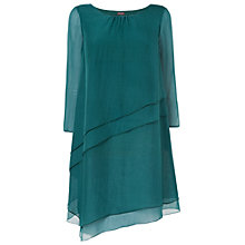 Buy Phase Eight Aveline Layered Silk Tunic Dress, Forest Online at johnlewis.com
