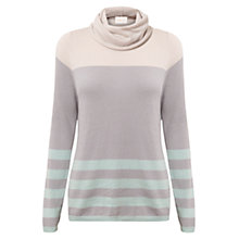 Buy East Stripe Cowl Neck Jumper, Mineral Online at johnlewis.com
