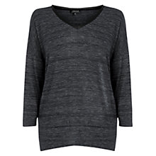 Buy Warehouse PU Trim Marl Top, Dark Grey Online at johnlewis.com