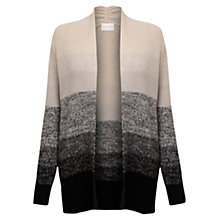 Buy Jigsaw Ombre Moss Stitch Jacket, Pearl Online at johnlewis.com