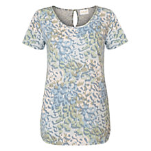 Buy East Leopard Print Jersey Top, Powder Blue Online at johnlewis.com