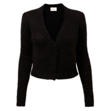 Buy East Mohair Blend Short Cardigan, Black Online at johnlewis.com