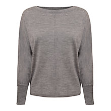 Buy East Slash Neck Jumper, Smoke Online at johnlewis.com