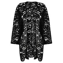 Buy Warehouse Lace Kimono Jacket, Black Online at johnlewis.com