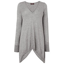 Buy Phase Eight Hilery Hanky Hem Jumper, Grey Marl Online at johnlewis.com