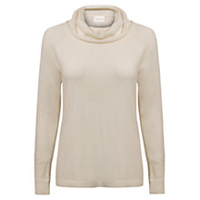 Buy East Roll Neck Jumper, Pearl Online at johnlewis.com