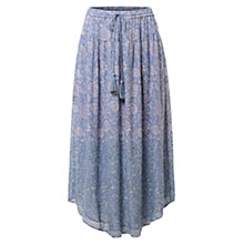 Buy East Fara Print Georgette Skirt, Bluestone Online at johnlewis.com