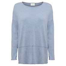 Buy East Seam Detail Jumper, Powder Blue Online at johnlewis.com