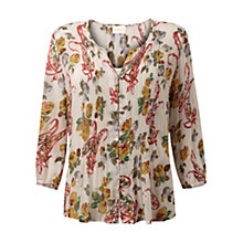 Buy East Ada Print Blouse, Pearl Online at johnlewis.com