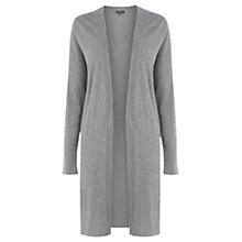 Buy Warehouse Long Side Split Cardigan, Dark Grey Online at johnlewis.com