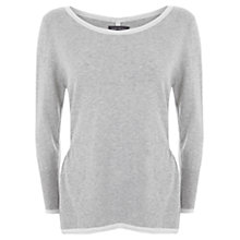 Buy Mint Velvet Tipped Knit Top, Silver Grey Online at johnlewis.com