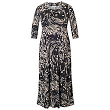 Buy Chesca Steel Print Draped Jersey Dress, Grey Online at johnlewis.com
