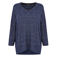 Buy Warehouse PU Trim Marl Top, Midnight Online at johnlewis.com