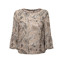 Buy East Antoinette Print Blouse, Stone Online at johnlewis.com