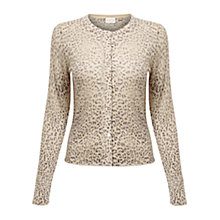 Buy East Leopard Print Cardigan, Stone Online at johnlewis.com
