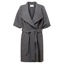 Buy East Waterfall Boiled Wool Coat, Smoke Online at johnlewis.com