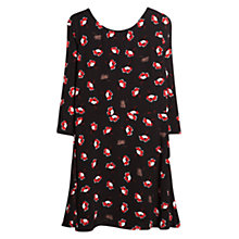 Buy Mango Flowy Floral Dress, Black Online at johnlewis.com