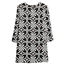 Buy Mango Retro Style Dress, Black Online at johnlewis.com