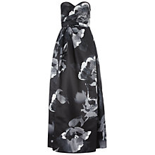 Buy Aidan Mattox Printed Satin Gown, Black/White Online at johnlewis.com
