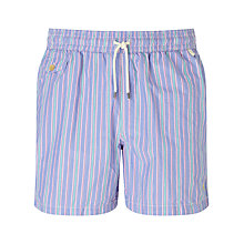 Buy Polo Ralph Lauren Striped Traveller Swim Shorts, Blue Online at johnlewis.com