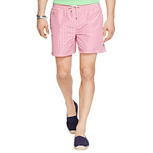Buy Polo Ralph Lauren Gingham Traveller Swim Short Online at johnlewis.com