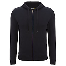 Buy Lyle & Scott Zip-Up Cotton Hoodie, Blue Online at johnlewis.com
