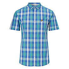 Buy Lyle & Scott Summer Tartan Shirt, Vert Green Online at johnlewis.com