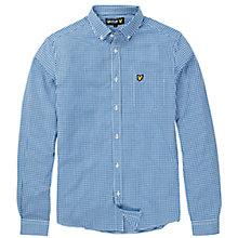 Buy Lyle & Scott Long Sleeve Gingham Shirt, Blue Online at johnlewis.com