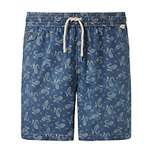 Buy Polo Ralph Lauren Paisley Swim Shorts, Navy Online at johnlewis.com