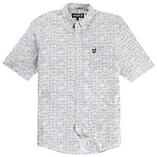 Buy Lyle & Scott Cross Hatch Print Shirt, White/Multi Online at johnlewis.com